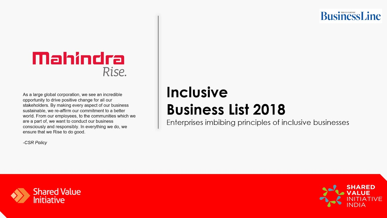 Inclusive Business List 2018 – SVII