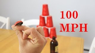 How to Shoot A Bottle Cap with Snap Of Fingers Tutorial. Bottle Cap Hack
