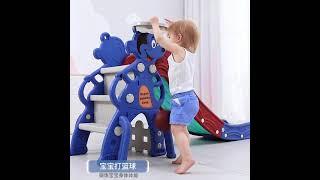 아기 유아 가정용 동물 미끄럼틀 실내 놀이터YY 064…