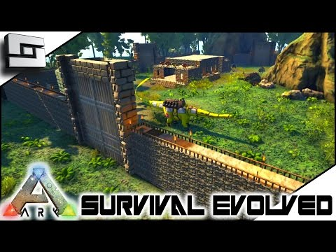 ARK: Survival Evolved - THE GREAT WALL OF NOT CHINA! S4E41 ( The Center Map Gameplay )