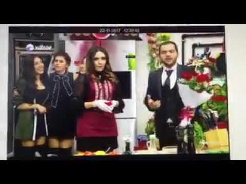 Xəzər TVdə canlı yayımda evlilik təklifi