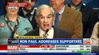 Maine GOP Caucus - Ron Paul Speech 02/11/2012