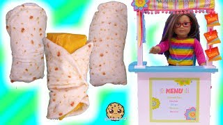 Burrito Cutetitos Surprise + Taco Cat Puzzle At Snack Stand with American Girl