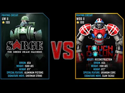REAL STEEL WRB Sarge VS TouchDown NEW UPDATE (Живая Сталь)