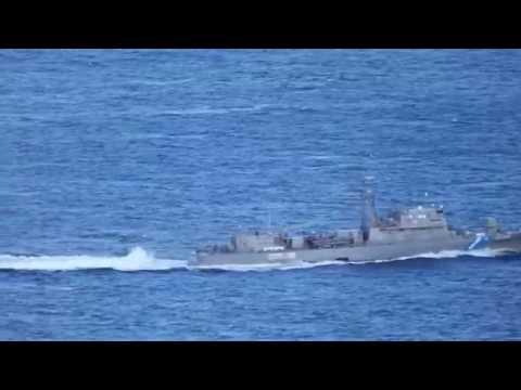 Hellenic Coast Guard OPV 080 Agios Efstratios patrolling the Aegean Sea.