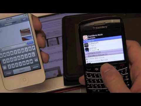 iOS 5 iMessages vs. BlackBerry BBM