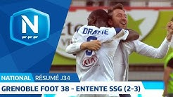 J34 : Grenoble Foot 38 - Entente SSG 2 (2-3), le résumé I National FFF 2018