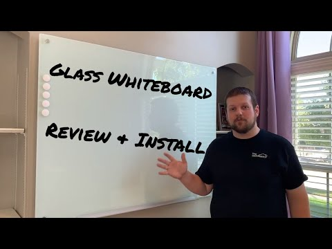 Glass Magnetic Whiteboard Review and Installation