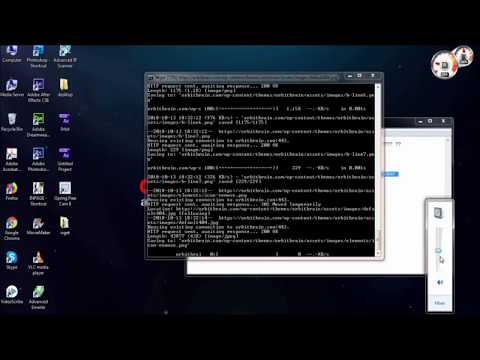 How to download Wget and download full website with cmd