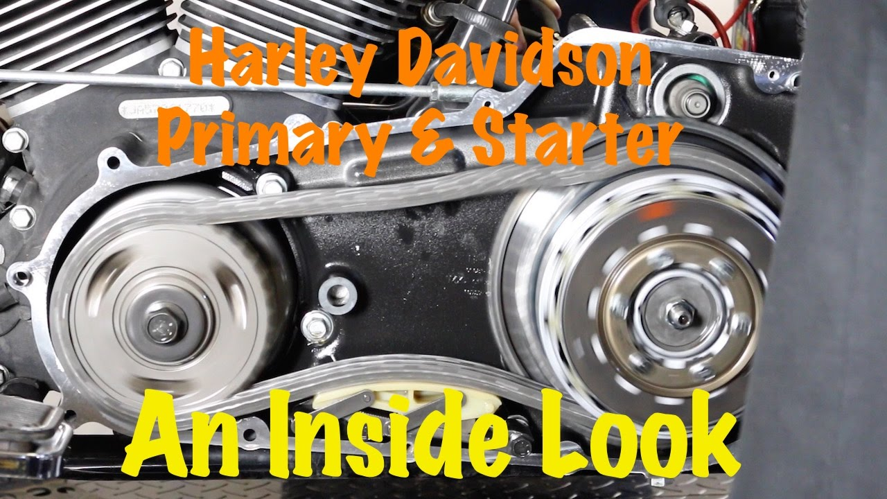 small resolution of inside look at harley primary starter operation solenoid starter clutch starter ring gear youtube