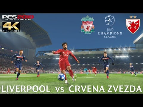 PES 2019 (PC) Liverpool vs Crvena Zvezda | UEFA CHAMPIONS LEAGUE PREDICTION | 24/10/2018 | 4K 60 FPS