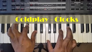 How To Play Clocks by Coldplay - Piano Tutorial - Chords and Riff