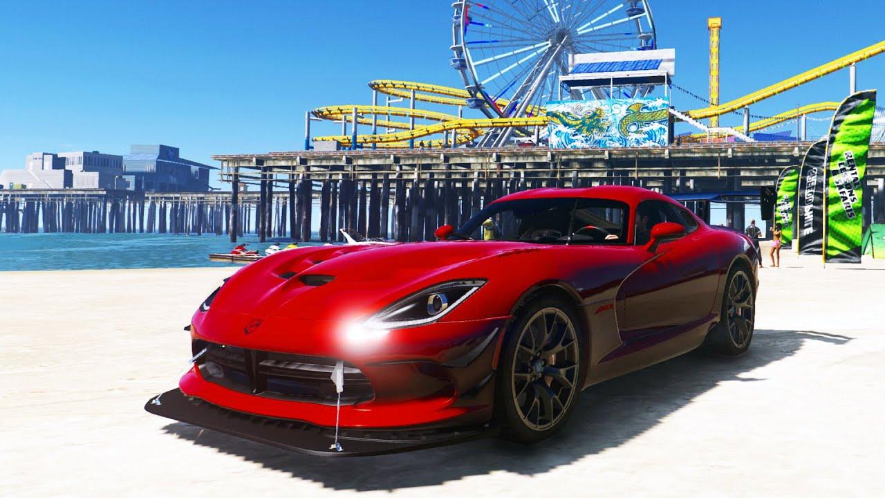 GTA 6 Graphics in GTA 5! NEW SUPER CARS! DODGE VIPER, LAMBO, 370z (GTA 5  Mods)