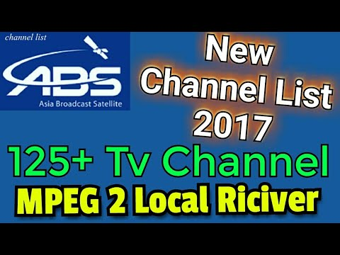 ABS FREE DISH 125 TV CHANAL MPEG 2 RICIVER, NEW CHANAL LIST 2017