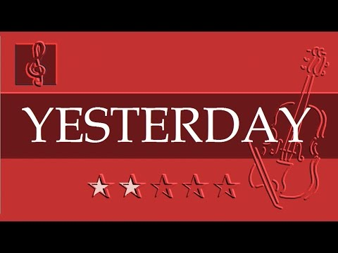 Violin & Guitar Duet - Yesterday (Sheet music - Guitar chords)