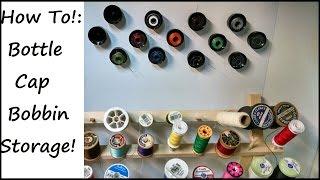 Sewing Nerd!: Tutorial - How To Turn Bottlecaps Into Bobbin Storage!