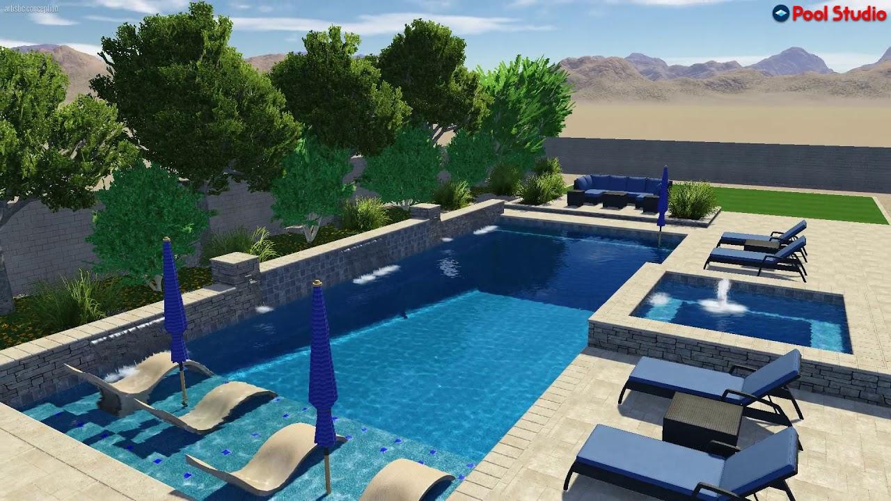 Custom 3D virtual backyard design created by Jim Sherlock ... on Virtual Patio Designer id=45512