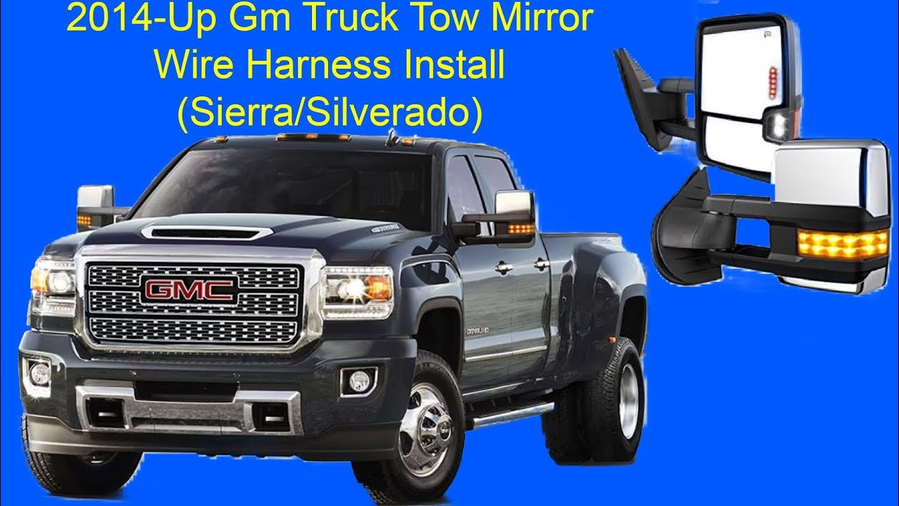 hight resolution of sierra silverado tow mirror oem wire harness install 2014 up