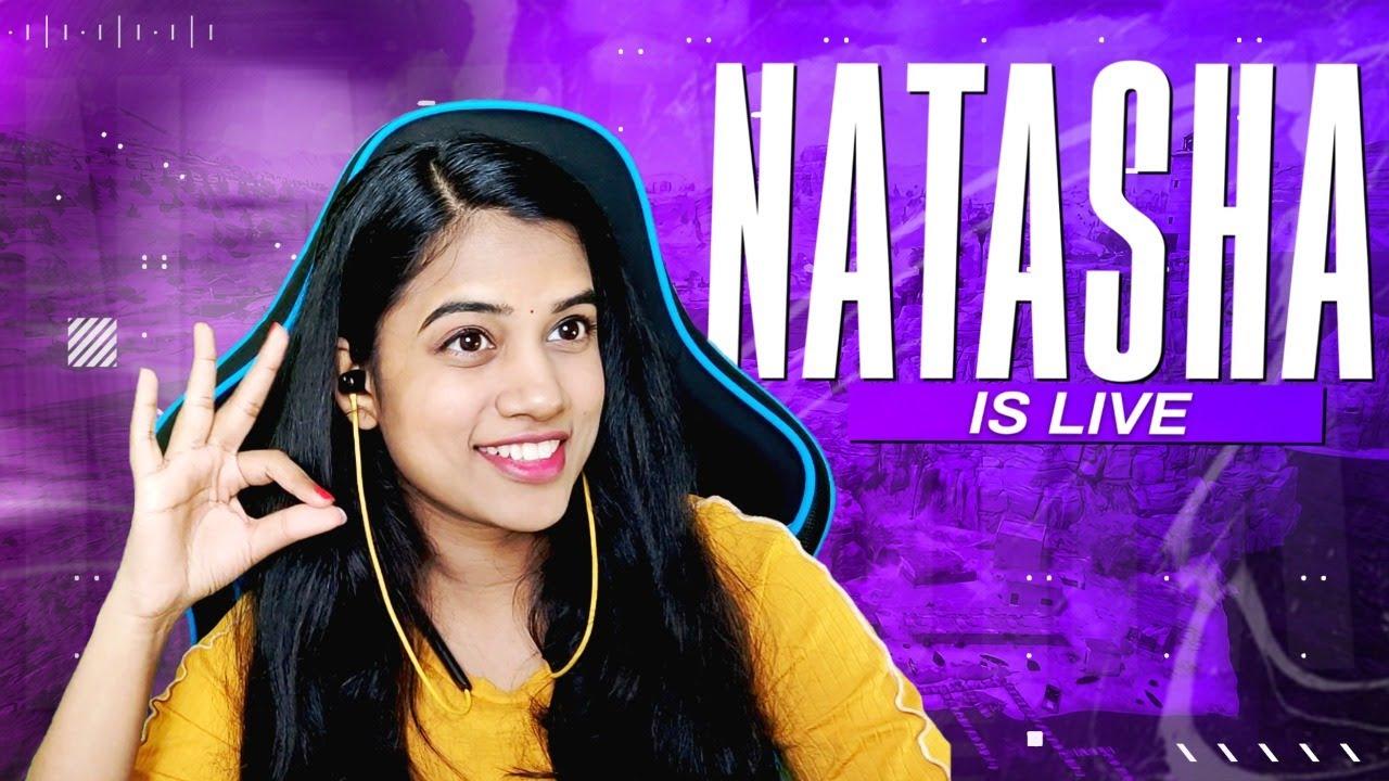 50 RP Giveaway at 400K Subs Natasha Gaming is Live #natashagaming #bgmilive #telugugirlgamer #bgmi
