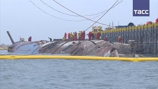 Затонувший в 2014 году паром  Сэволь  подняли со дна моря