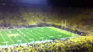 9/11/11 Michigan Stadium singing Dynamite after 3rd straight 4th qtr TD to take 28-24 lead...