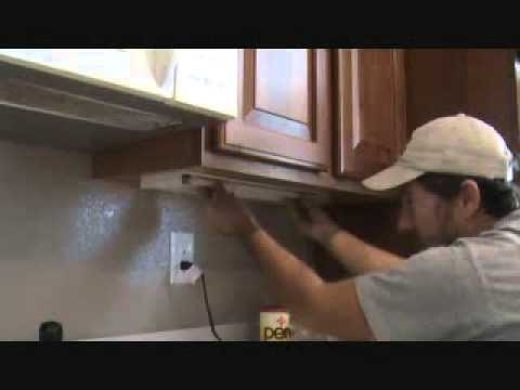 fluorescent kitchen light fixtures hampton bay cabinets how to remove an under counter tube - youtube