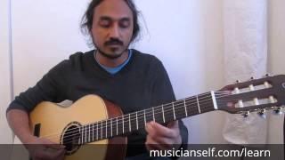 Carnatic on Guitar | Sliding details | Sustain the pressure from origin till destination fret