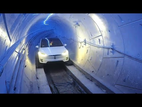 馬斯克果然沒吹牛! 高速隧道通車測試, 最高時速將達241公里