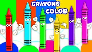 สีเพลง | เรียนรู้ชื่อสี | Crayons Colors Song | Nursery Rhymes | Baby Song | Educational Video