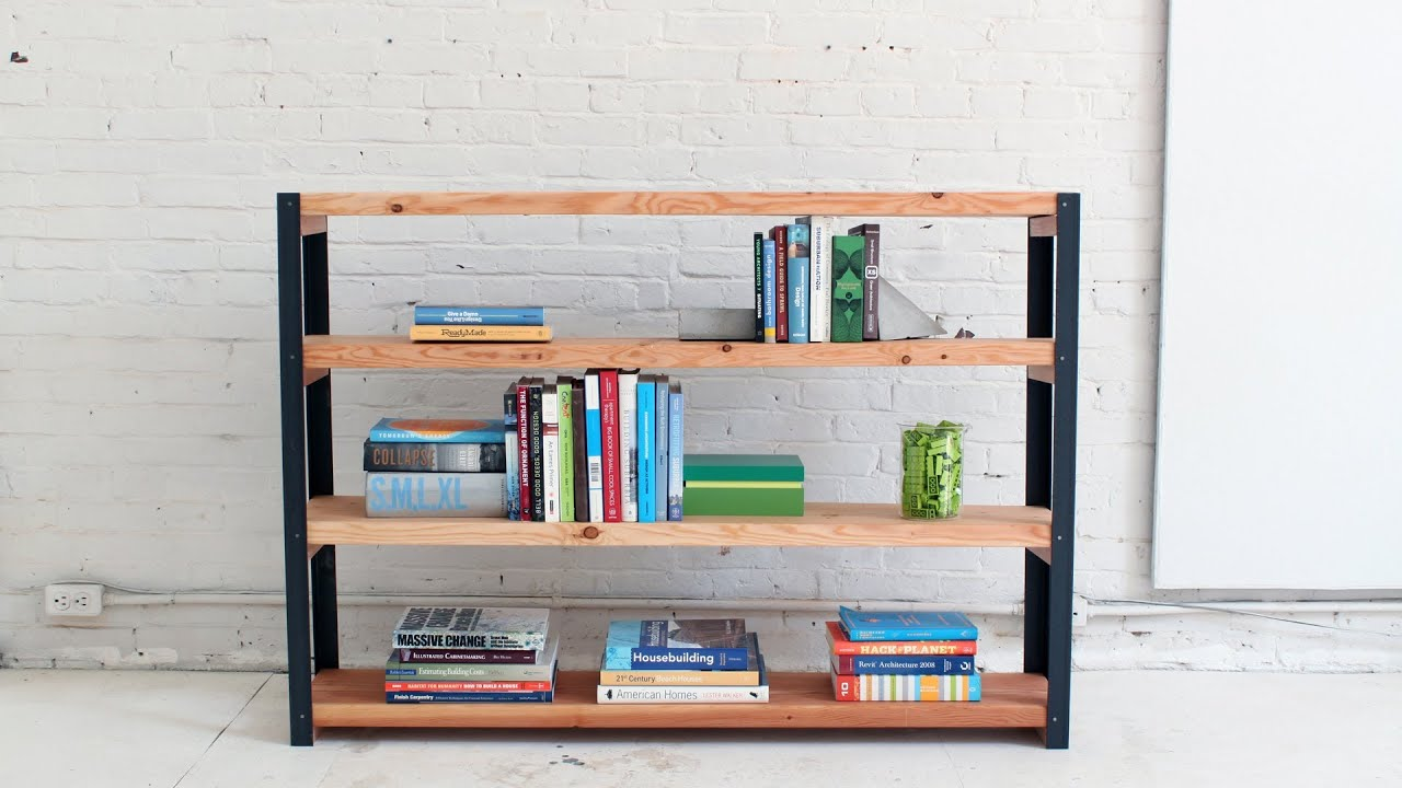 How To Make An Ironbound DIY Bookcase Out Of Angle Irons And Xs - Diy bookshelves