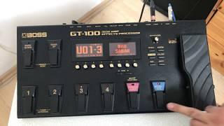 Boss Gt-100  Deng je bu Saz le ser Boss Gt-100. اصوات للساز  للباغلمة  للبزق على جهاز Boss Gt-100
