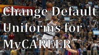 Change MyCAREER Uniforms - NBA 2K13 Tutorial (RED MC)