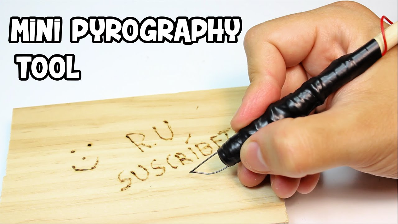How to make a mini pyrography pen woodburning tool youtube - Pirografo para madera ...