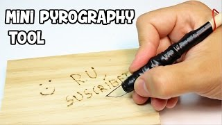 How to Make a Mini Pyrography Pen | Woodburning tool