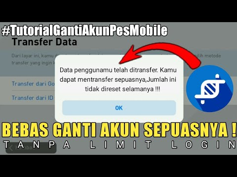 CARA GANTI AKUN PES | NO LIMIT LOGIN - YouTube