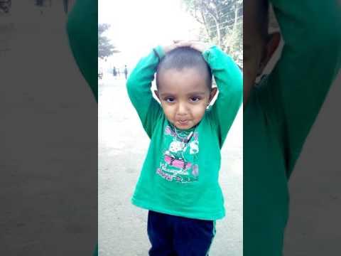 Cute boy singing abbabbo abbo