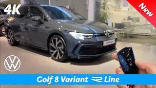 Volkswagen Golf 8 Variant R Line 2021 First Full Review In 4k Dolphin Gray Metallic Youtube