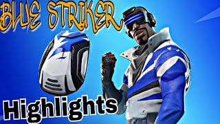 NEW Blue Striker Skin Gameplay (Best Moments) - FORTNITE