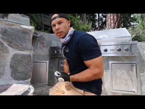 Building a Outdoor BBQ Without Wood -- Lake Tahoe California