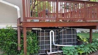 Rainwater Harvesting - Watering Lawn with  Rain Barrels