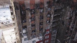 Девятиэтажка на улице Олимпийской загорелась 8 января