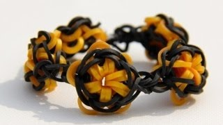 Rainbow Loom - Lone Star Bracelet (Original Design) - English Tutorial - Loom bands
