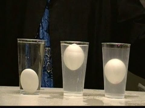 FLOAT AN EGG IN THE MIDDLE OF WATER!! DENSITY COLUME SCIENCE