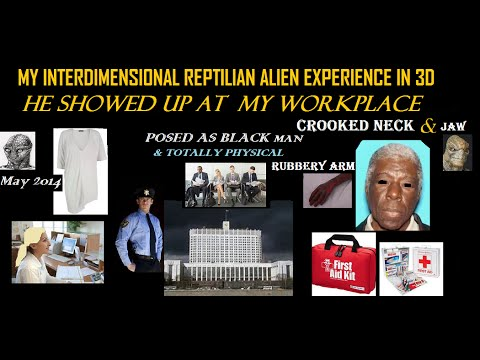 My Reptilian Alien PHYSICAL Experience in 3D(Posing as human Black Male) At Government Office 2014YR