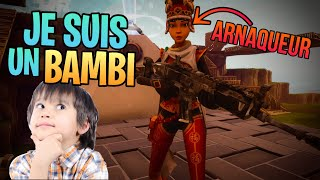 I TROLL A ARNAQUER IN ME MAKING it for a BAMBI Fortnite Save the World