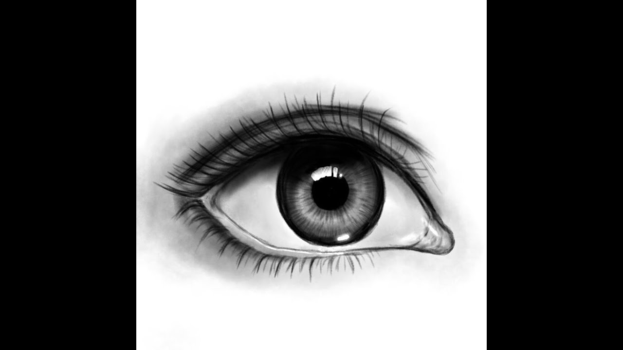 How to draw a realistic eye/リアルな目の描き方講座【説明欄にて簡単な解説付き】