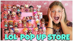LOL Surprise POP UP Store Shop Display Case with EXCLUSIVE LOL DOLL and Blind Bags