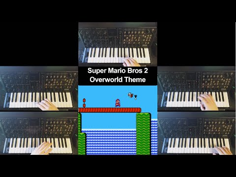 Super Mario Bros 2 Overworld Theme on a Korg MS-20 Synthesizer