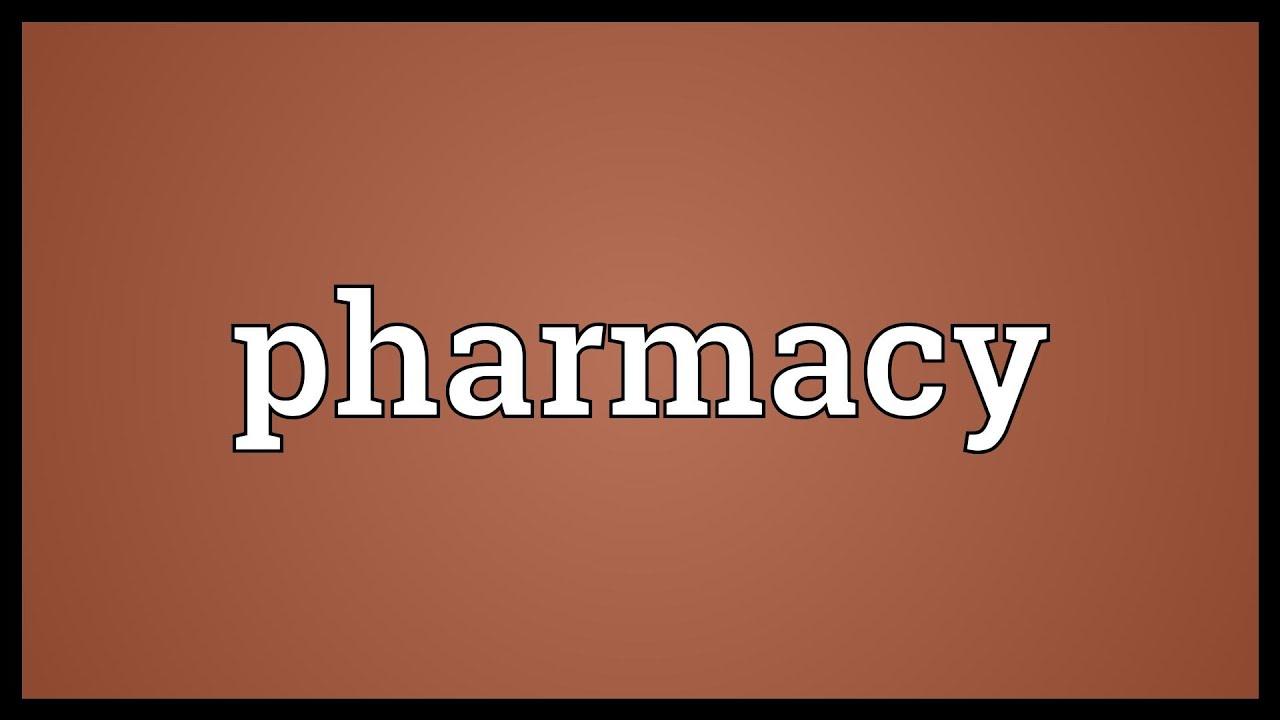 Pharmacy Meaning Youtube