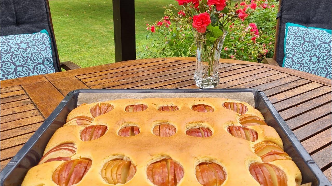 Яблочный пирог!Летний привет с Альп!